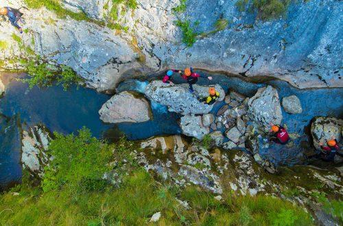 Barranquismo en el río en Cantabria