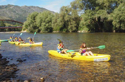 Descenso en canoa del río Deva